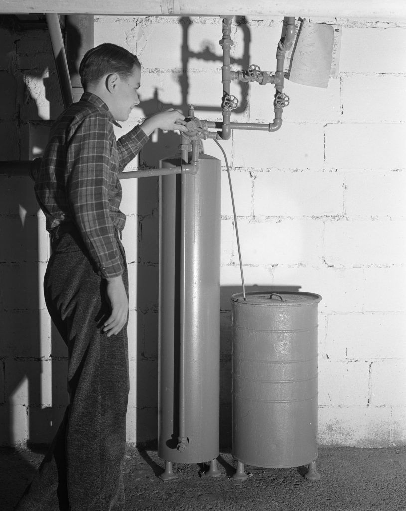 early domestic water softner